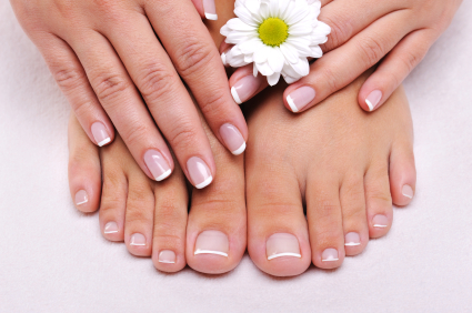 Skincare of a beauty female feet